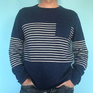 J.Crew LS Blue Pullover Crew Neck Sweater Men